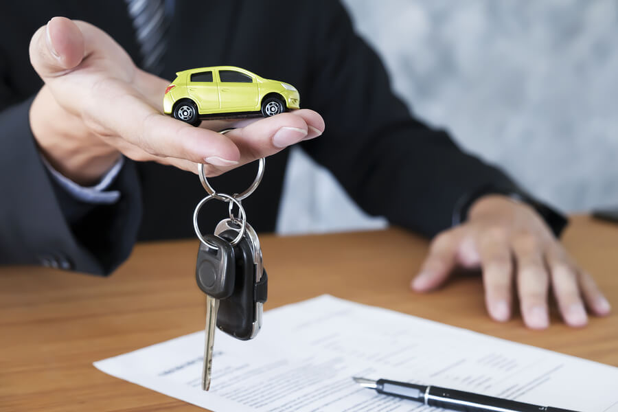 Car Key For Vehicle Sales Agreement.